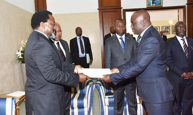 President Joseph Kabila receives Credentials for Seven New Ambassadors