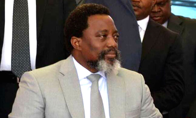 Through his personal representative, Joseph Kabila at Echangeur of Limete for tributes to national Hero Patrice-Emery Lumumba
