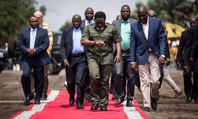 Congolese invited to keep their faith intact in the Raïs' capacity to defend the country