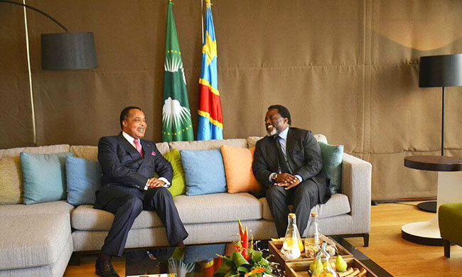 Joseph Kabila at 8th high level meeting of the Mechanism of follow-up of the Outline agreement of Addis-Abeba to Brazzaville