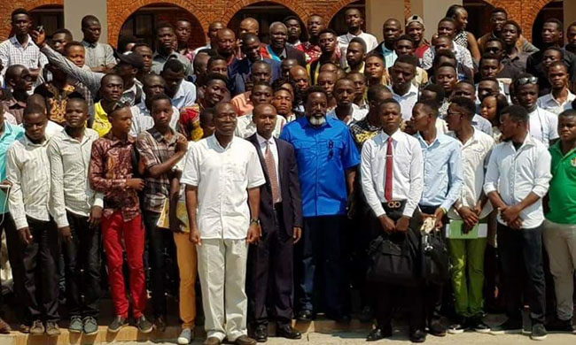 Head of State visits Mapon University in Kindu