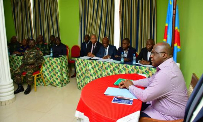 President Felix Tshisekedi chaired the secial eeting over the security situation of Beni