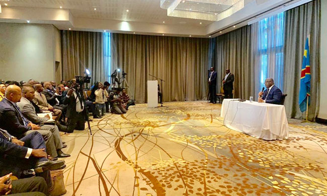 Felix Tshisekedi in search of support at Sadc: first step, Namibia