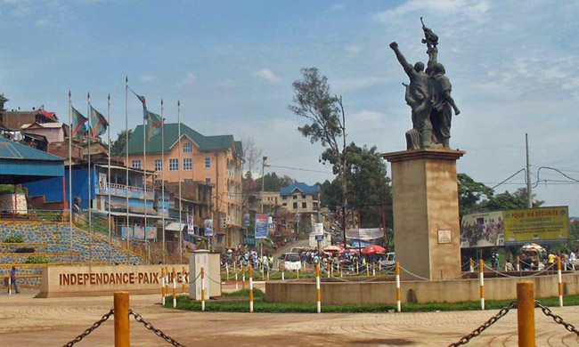 The site of the Major Vangu monument in Bukavu transformed into an evangelization place
