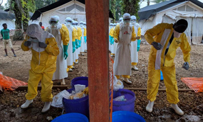 The fight against Ebola continues in the war zone