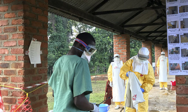 94 health workers with Ebola, 33 of whom have died since the beginning of the epidemic in north-eastern DRC