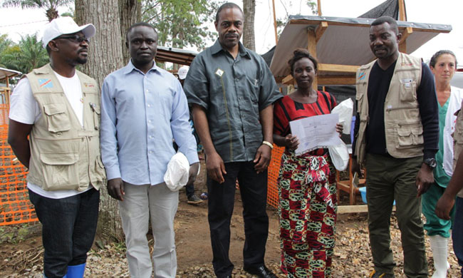 Dr. Oly Ilunga in Bunia to inquire about the evolution of the Ebola epidemic