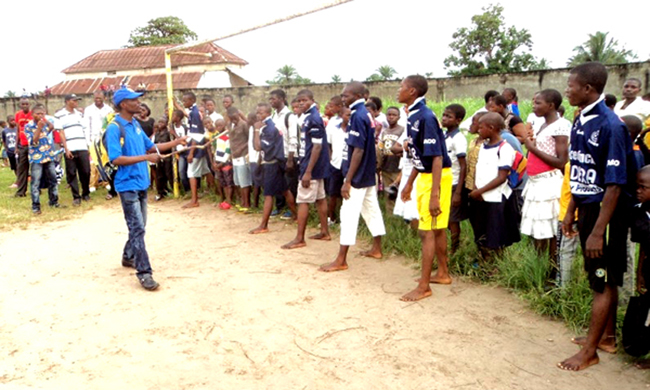 A structure of physical educators, installed in Kisangani