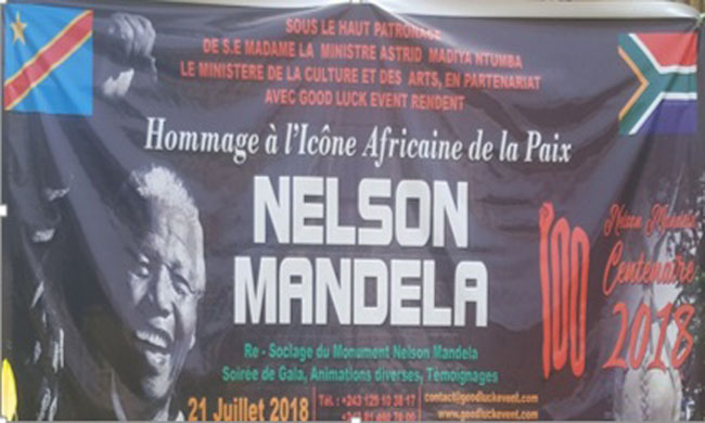 An exhibition sale of art works of Nelson Mandela in Kinshasa