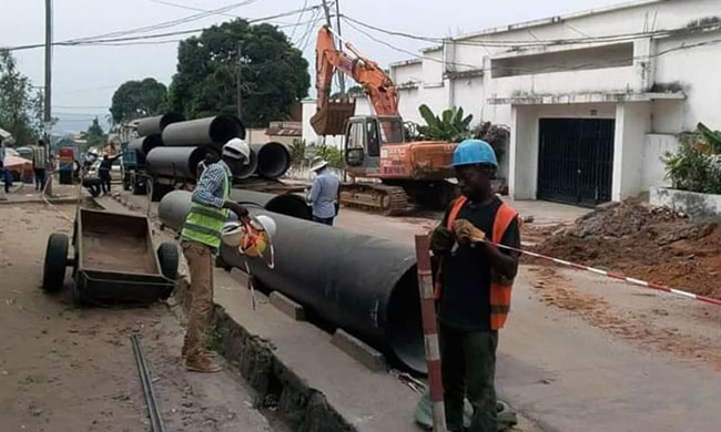 The inhabitants of Kinshasa are satisfied with the evolution of works on the main arteries