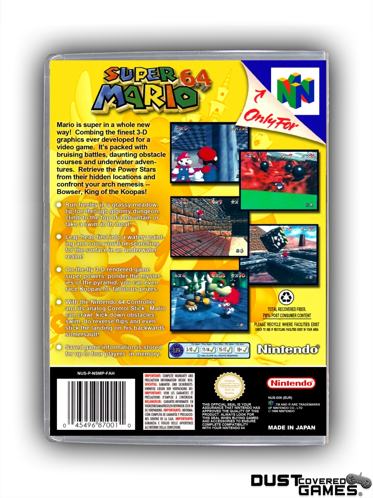 thumbnail 36 - Super-Mario-64-N64-Nintendo-64-Game-Case-Box-Cover-Brand-New-Pro-Quality