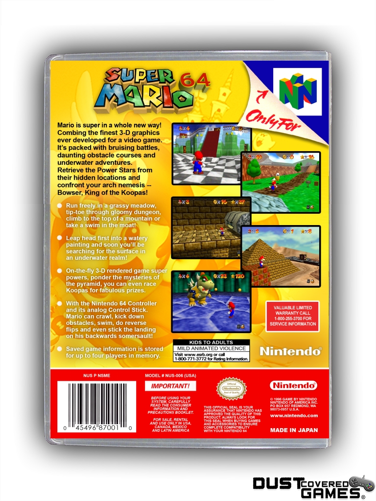 thumbnail 40 - Super-Mario-64-N64-Nintendo-64-Game-Case-Box-Cover-Brand-New-Pro-Quality