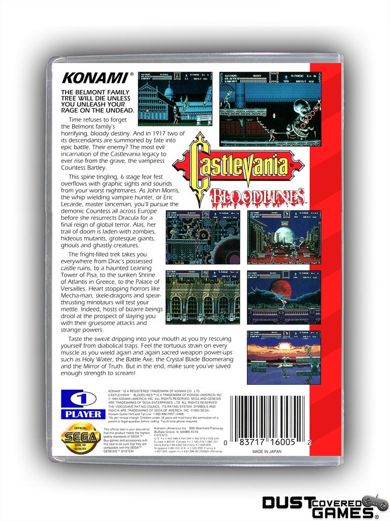 Castlevania-Bloodlines-Castlevania-The-New-Generation-GEN-Genesis-Game-Case thumbnail 16