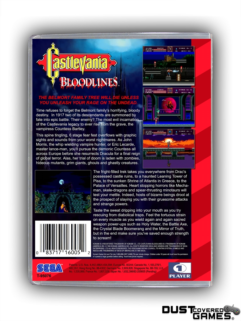 Castlevania-Bloodlines-Castlevania-The-New-Generation-GEN-Genesis-Game-Case thumbnail 20