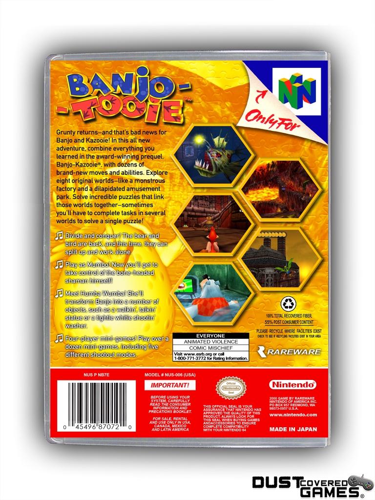 Banjo-Tooie-N64-Nintendo-64-Game-Case-Box-Cover-Brand-New-Professional-Quality miniatuur 8