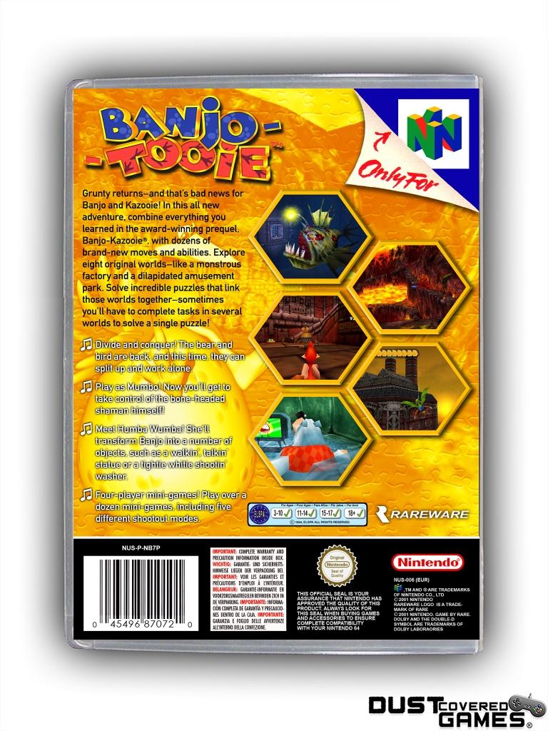 Banjo-Tooie-N64-Nintendo-64-Game-Case-Box-Cover-Brand-New-Professional-Quality miniatuur 12