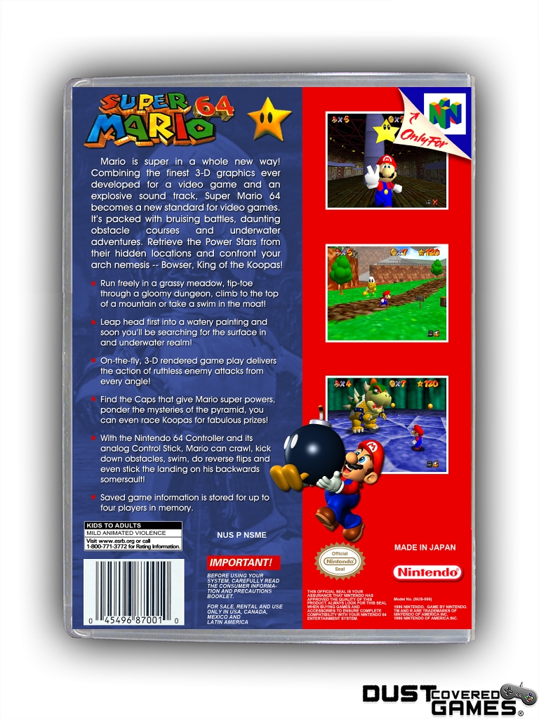 thumbnail 20 - Super-Mario-64-N64-Nintendo-64-Game-Case-Box-Cover-Brand-New-Pro-Quality