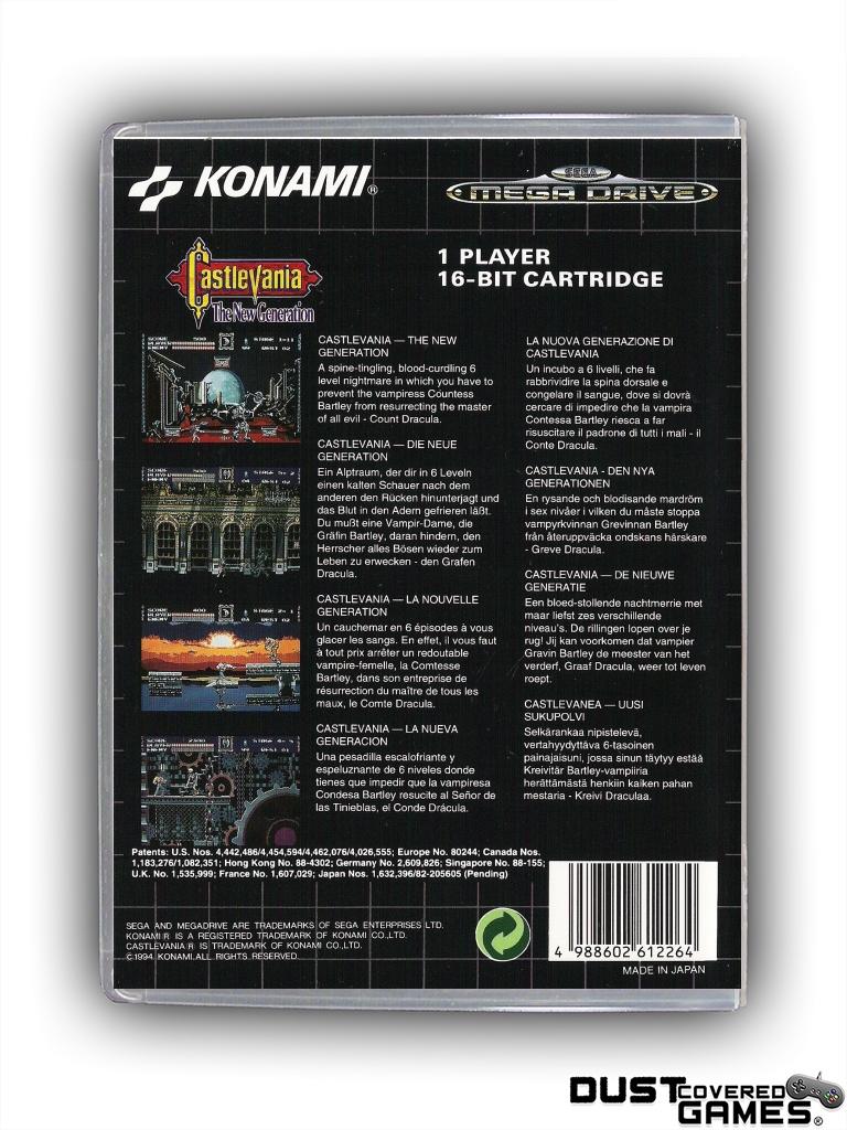 Castlevania-Bloodlines-Castlevania-The-New-Generation-GEN-Genesis-Game-Case thumbnail 8