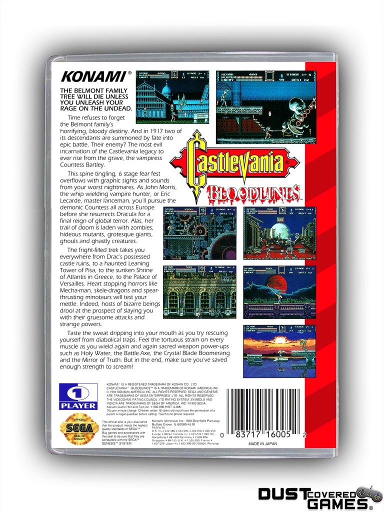 Castlevania-Bloodlines-Castlevania-The-New-Generation-GEN-Genesis-Game-Case thumbnail 4