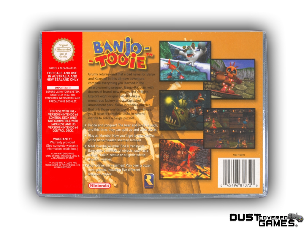 Banjo-Tooie-N64-Nintendo-64-Game-Case-Box-Cover-Brand-New-Professional-Quality miniatuur 16