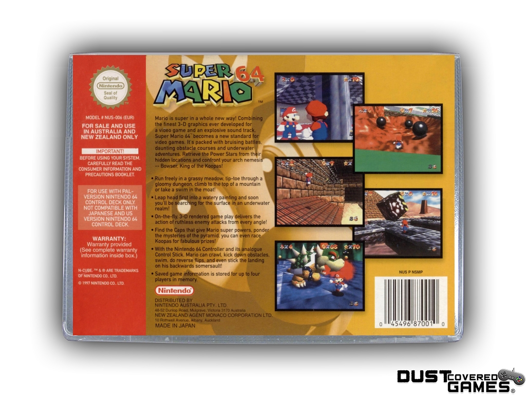thumbnail 24 - Super-Mario-64-N64-Nintendo-64-Game-Case-Box-Cover-Brand-New-Pro-Quality