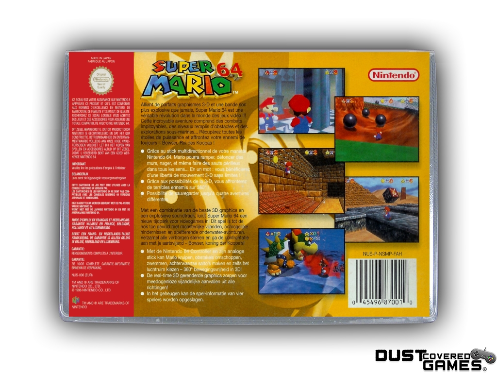 thumbnail 28 - Super-Mario-64-N64-Nintendo-64-Game-Case-Box-Cover-Brand-New-Pro-Quality