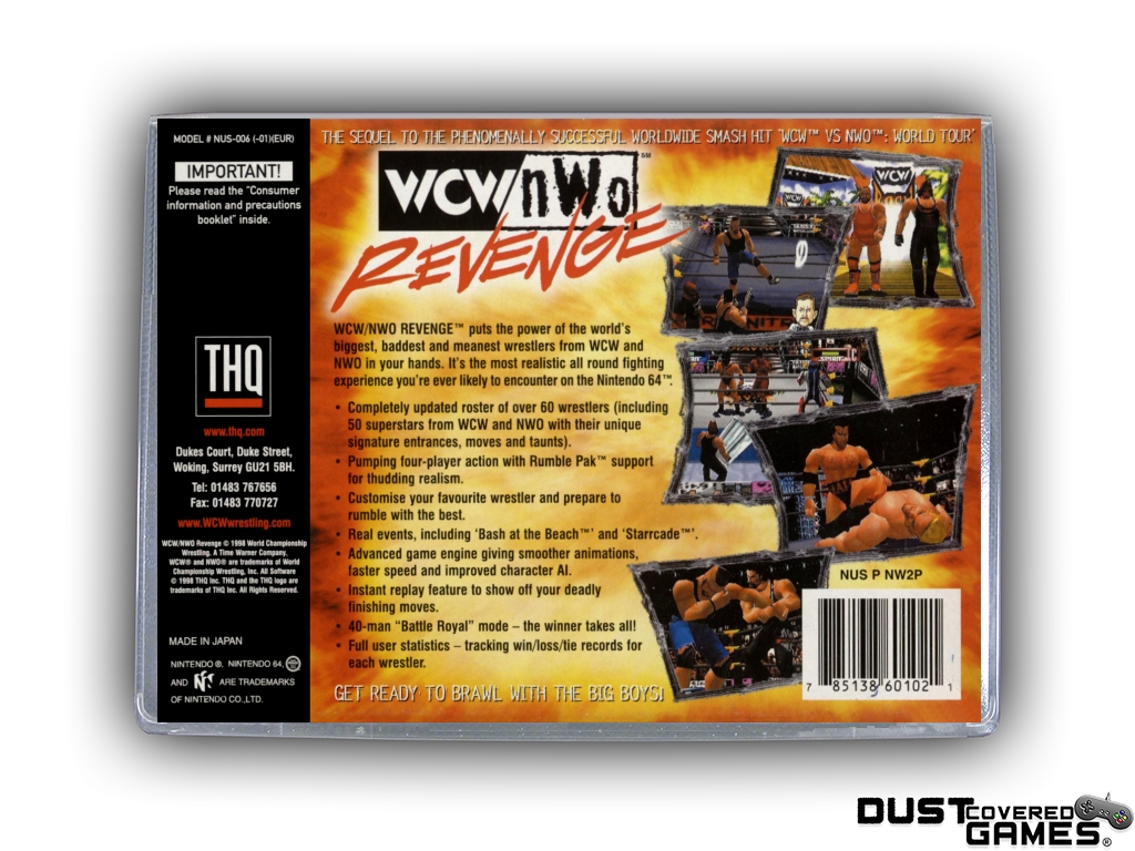 Details about WCW vs NWO Revenge N64 Nintendo 64 Game Case Box Cover Brand  New Pro Quality!!!