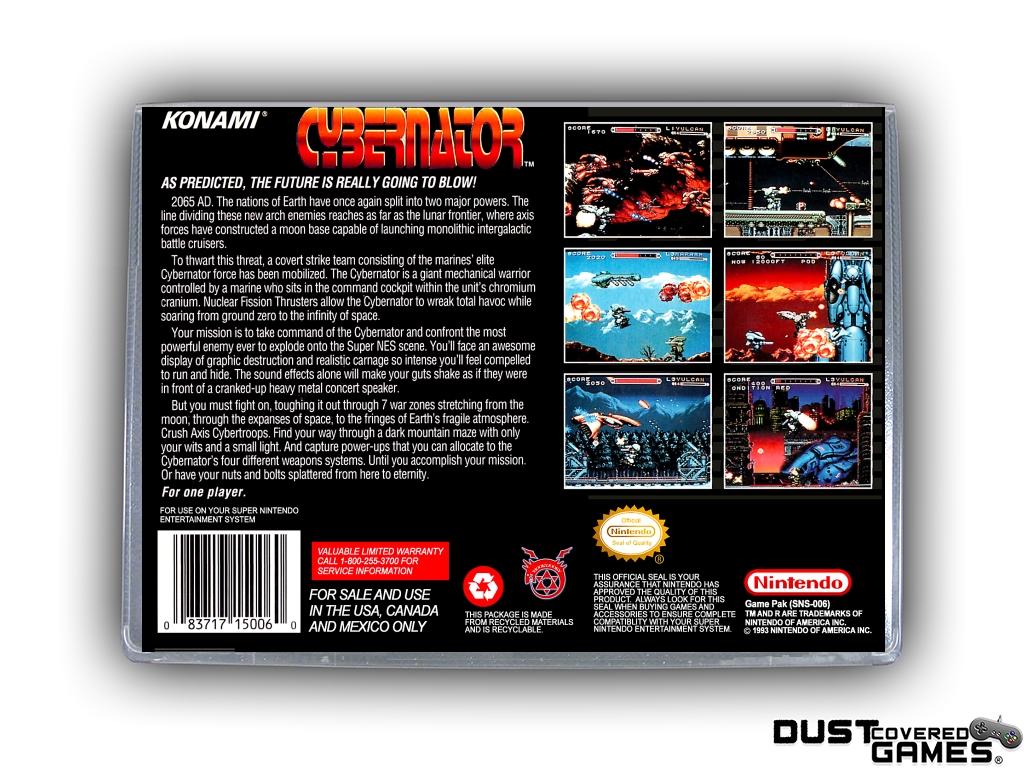 thumbnail 4 - Cybernator-SNES-Super-Nintendo-Game-Case-Box-Cover-Brand-New-Pro-Quality