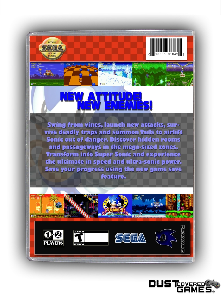 Details about Sonic the Hedgehog 3 GEN Genesis Game Case Box Cover Brand  New Pro Quality!!!