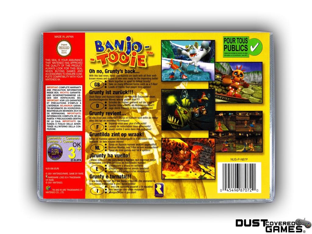 Banjo-Tooie-N64-Nintendo-64-Game-Case-Box-Cover-Brand-New-Professional-Quality miniatuur 20