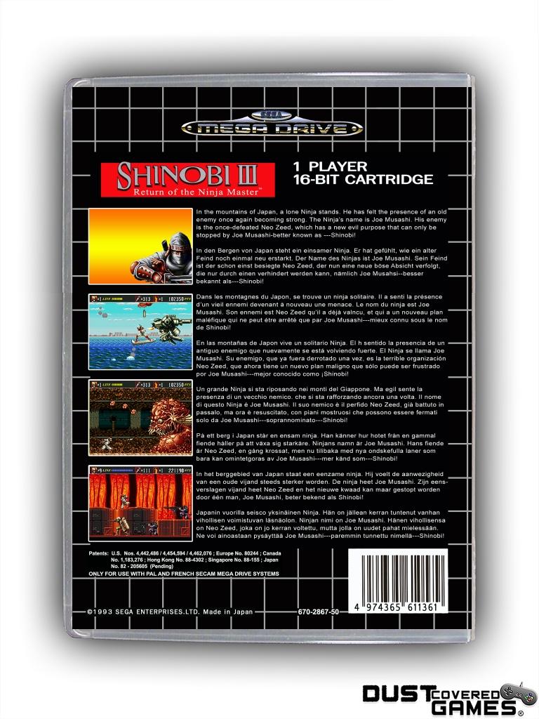 Shinobi-III-Return-of-the-Ninja-Master-GEN-Genesis-Game-Case-Box-Cover-New-Pro thumbnail 8