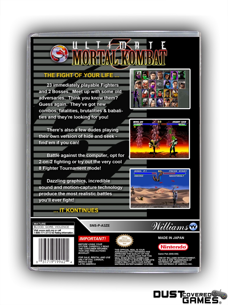 Details about Ultimate Mortal Kombat 3 SNES Super Nintendo Game Case Box  Cover Brand New Pro!!