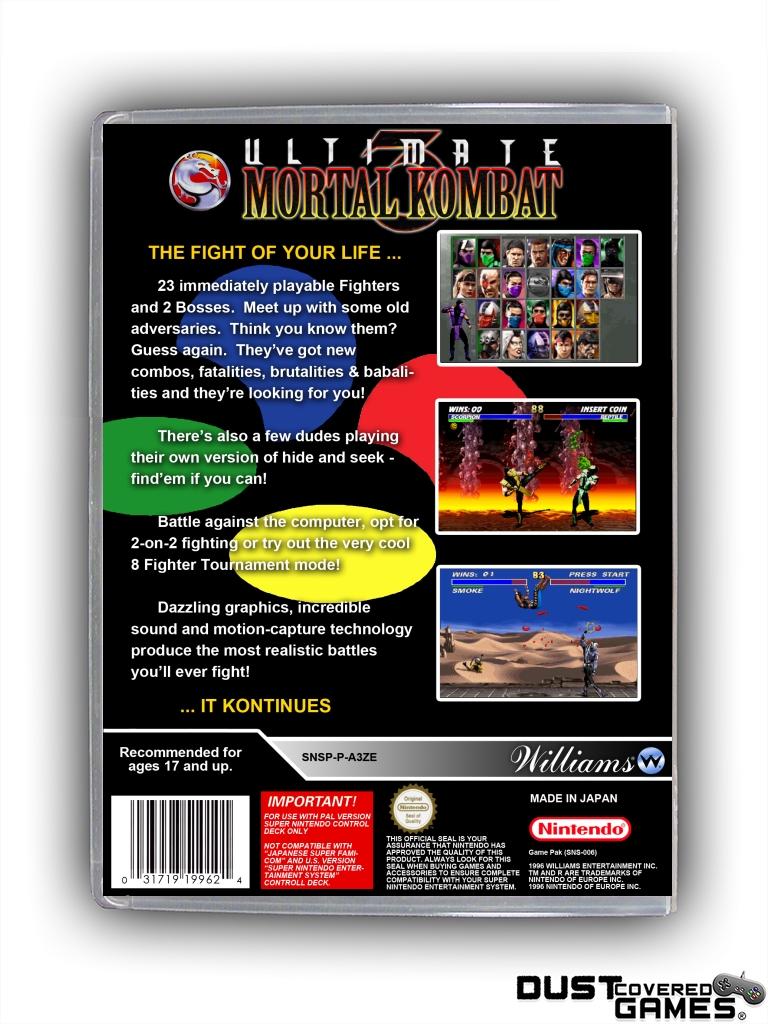 Details about Ultimate Mortal Kombat 3 SNES Super Nintendo Game Case Box  Cover Brand New Pro!!