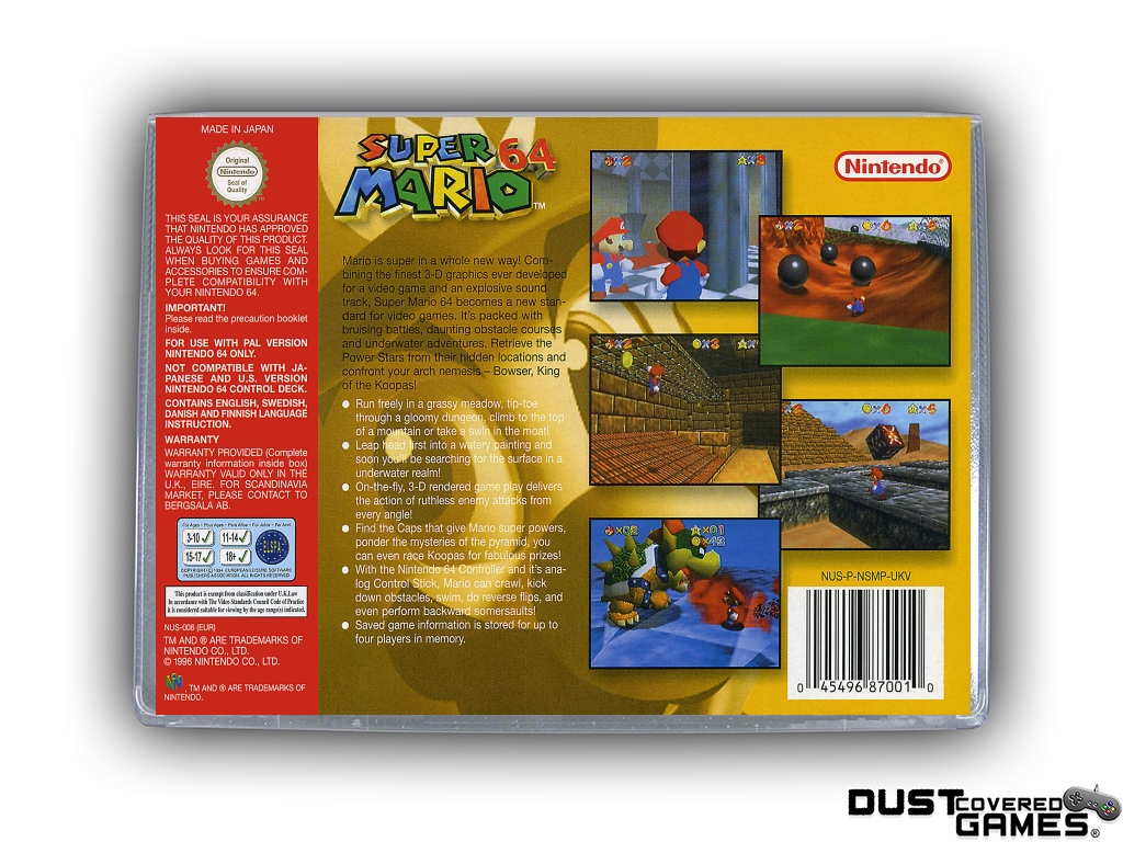 thumbnail 12 - Super-Mario-64-N64-Nintendo-64-Game-Case-Box-Cover-Brand-New-Pro-Quality