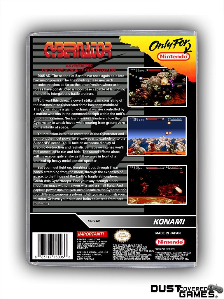 thumbnail 12 - Cybernator-SNES-Super-Nintendo-Game-Case-Box-Cover-Brand-New-Pro-Quality