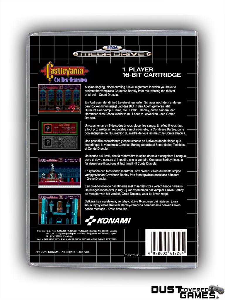 Castlevania-Bloodlines-Castlevania-The-New-Generation-GEN-Genesis-Game-Case thumbnail 24