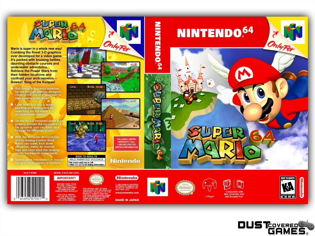 thumbnail 41 - Super-Mario-64-N64-Nintendo-64-Game-Case-Box-Cover-Brand-New-Pro-Quality