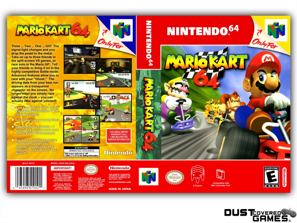 Details About Mario Kart 64 N64 Nintendo 64 Game Case Box Cover Brand New Professional Quality