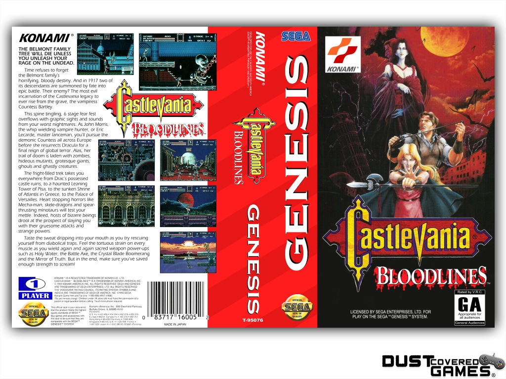 Castlevania-Bloodlines-Castlevania-The-New-Generation-GEN-Genesis-Game-Case thumbnail 17