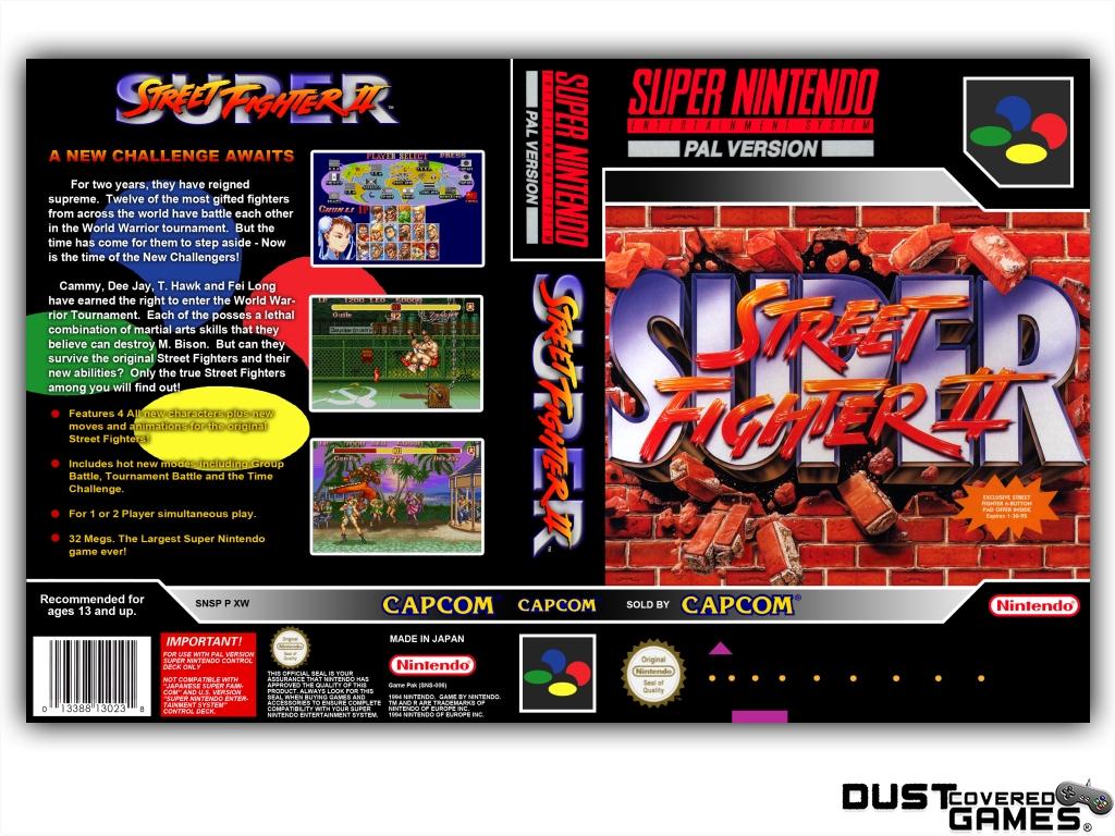 Super Street Fighter 2 Snes Super Nintendo Game Case Box Cover