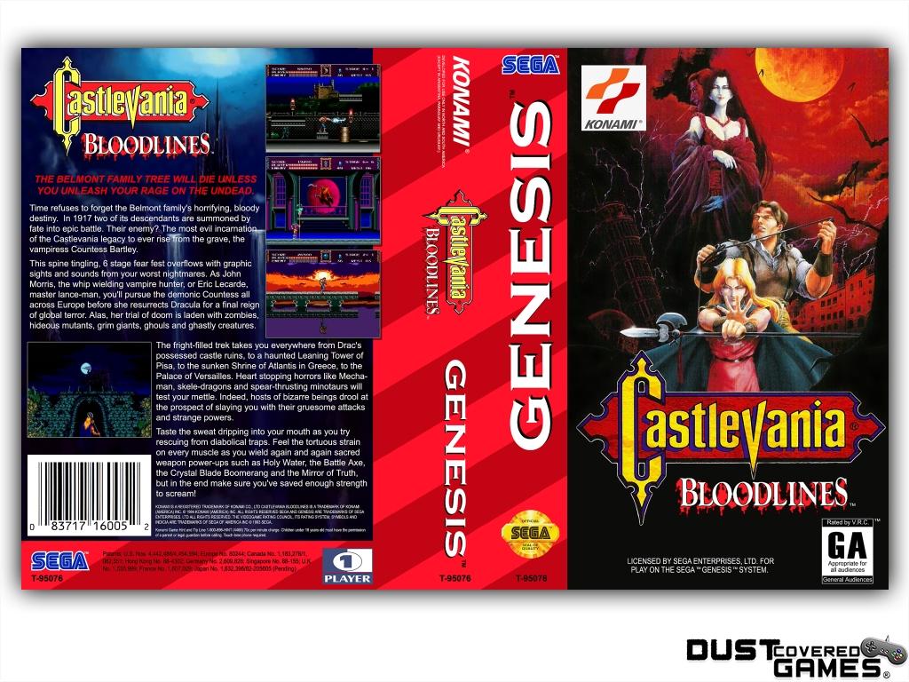 Castlevania-Bloodlines-Castlevania-The-New-Generation-GEN-Genesis-Game-Case thumbnail 21