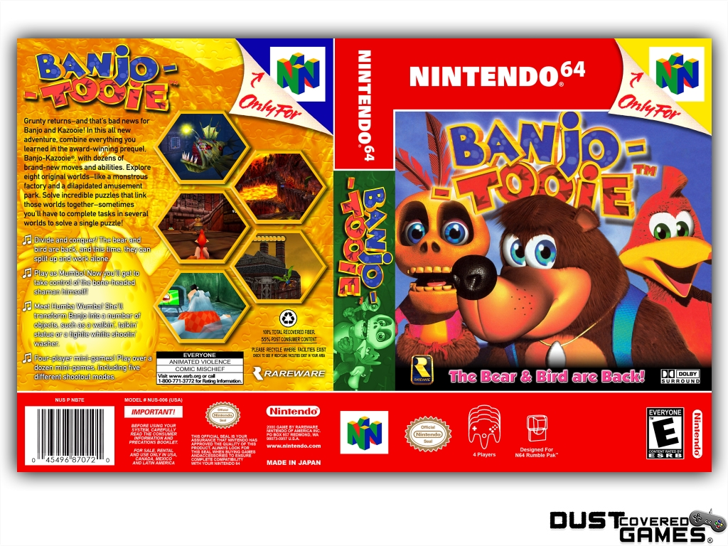 Banjo-Tooie-N64-Nintendo-64-Game-Case-Box-Cover-Brand-New-Professional-Quality miniatuur 9