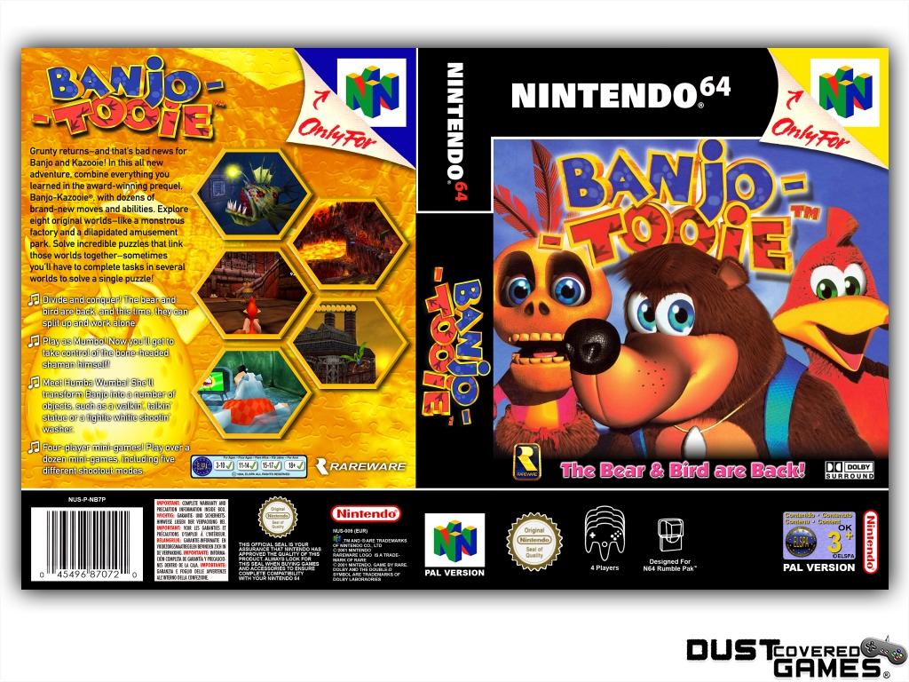 Banjo-Tooie-N64-Nintendo-64-Game-Case-Box-Cover-Brand-New-Professional-Quality miniatuur 13