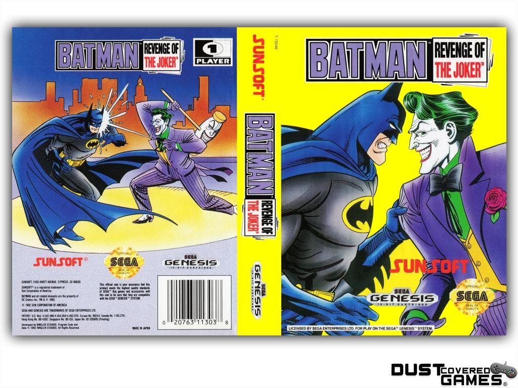 Batman Revenge Of The Joker Gen Genesis Game Case Box Cover Brand