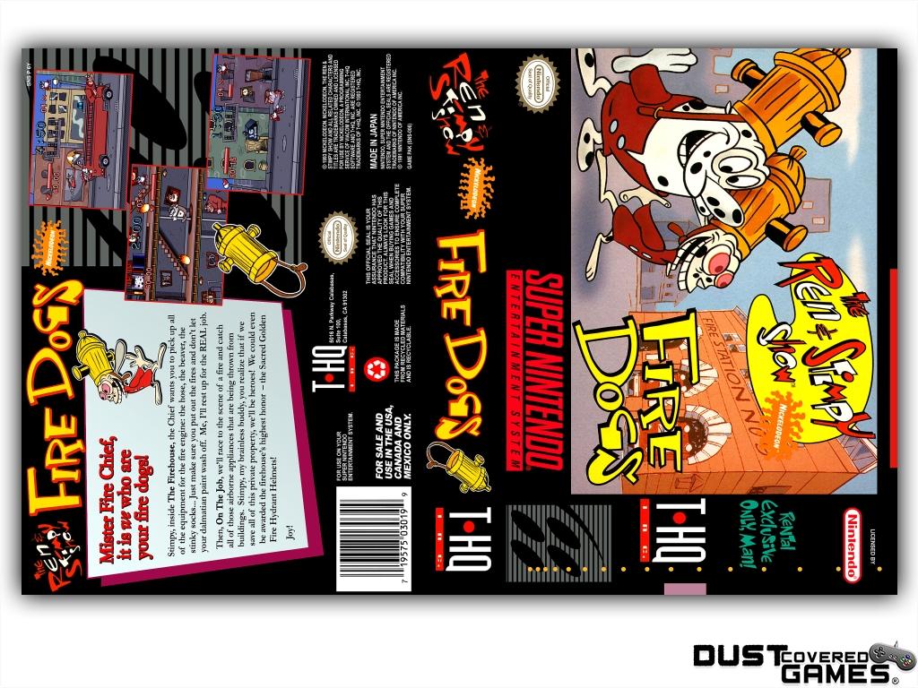 Details about Ren & Stimpy Show Part II: Fire Dogs SNES Super Nintendo Game  Case Box Cover New