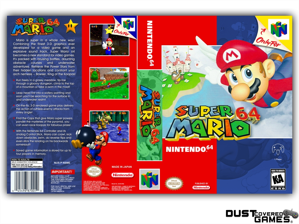 thumbnail 21 - Super-Mario-64-N64-Nintendo-64-Game-Case-Box-Cover-Brand-New-Pro-Quality