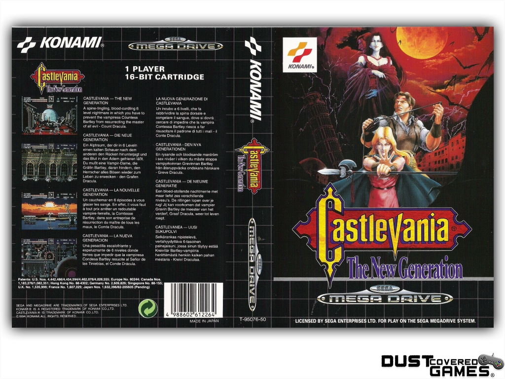 Castlevania-Bloodlines-Castlevania-The-New-Generation-GEN-Genesis-Game-Case thumbnail 9
