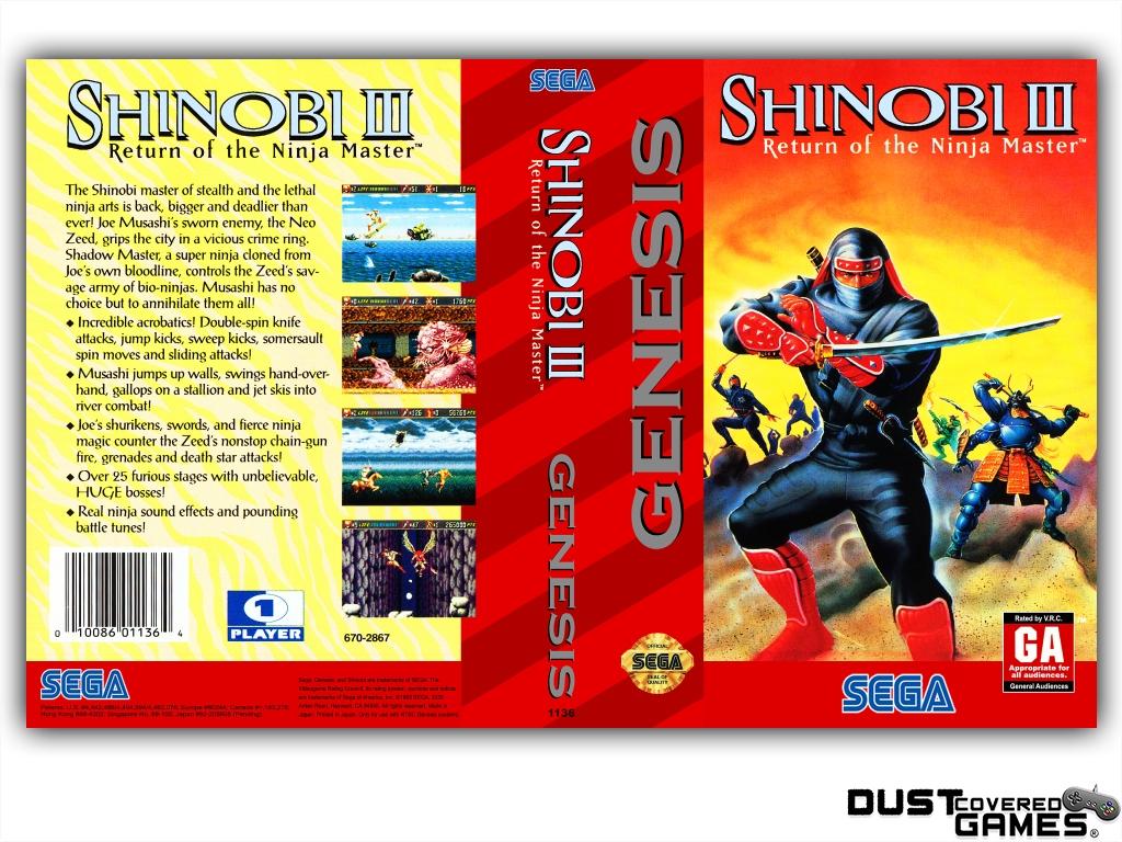 Shinobi-III-Return-of-the-Ninja-Master-GEN-Genesis-Game-Case-Box-Cover-New-Pro thumbnail 5
