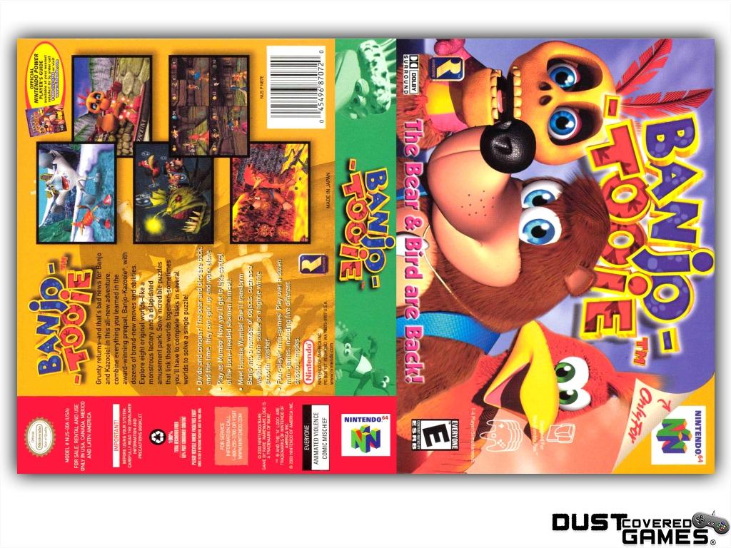 Banjo-Tooie-N64-Nintendo-64-Game-Case-Box-Cover-Brand-New-Professional-Quality miniatuur 5