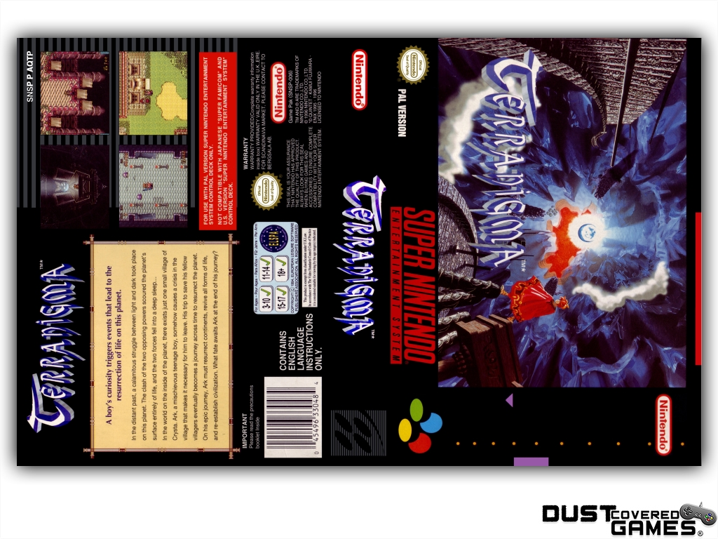 Details about Terranigma SNES Super Nintendo Game Case Box Cover Brand New  Pro Quality!!!